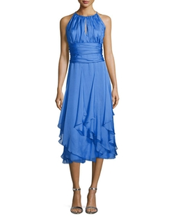 Carmen Marc Valvo  - Halter Hanky-Hem Dress