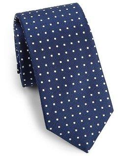 Eton Of Sweden - Dot Print Silk Tie