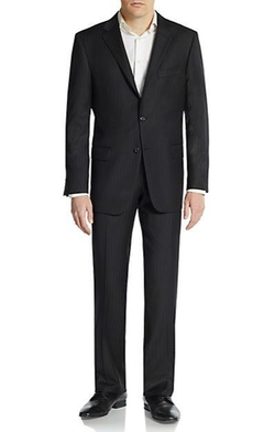 Hickey Freeman  - Pinstripe Worsted Wool Suit