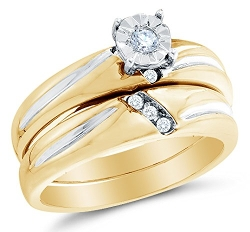 Sonia Jewels - Diamond Engagement Wedding Band Set