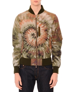 Valentino - Tie-Dye Zip-Up Bomber Jacket