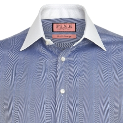 Thomas Pink - Streatham Texture Slim Fit Double Cuff Shirt