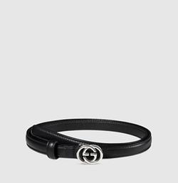 Gucci - Leather Skinny Belt