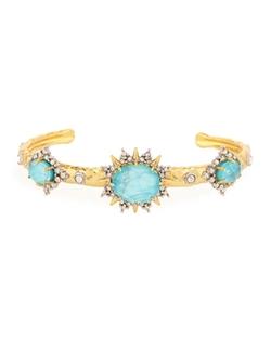 Alexis Bittar - Sunburst Turquoise Howlite Cuff Bracelet