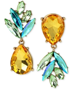 Betsey Johnson - Crystal Pineapple Mismatch Earrings