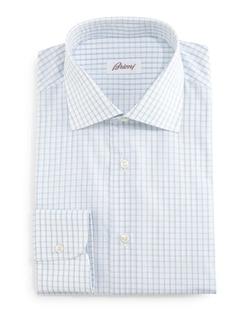 Brioni - Grid-Box Check Dress Shirt