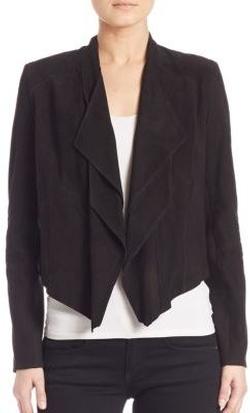 Lamarque  - Drape-Front Suede Jacket
