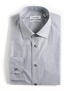 CALVIN KLEIN  - Cotton Dress Shirt