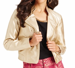 Thalia Sodi - Metallic Faux-Leather Jacket