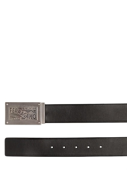 Salvatore Ferragamo - Engraved Buckle Leather Belt
