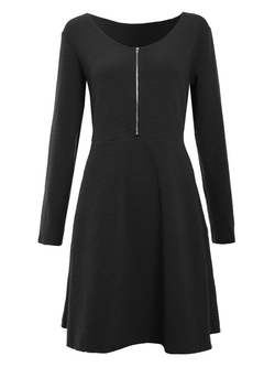 Envy Boutique - Front Zip A-Line Dress