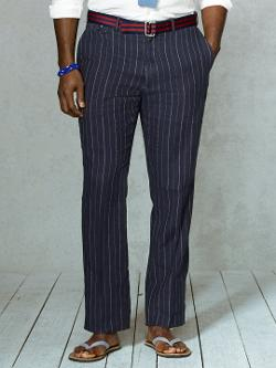 RALPH LAUREN BIG & TALL - Classic-Fit Pinstriped Pant