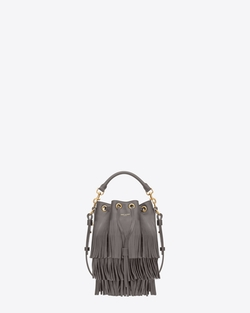 Saint Laurent  - Classic Small Emmanuelle Fringed Bucket Bag