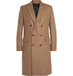 Ami - Double-Breasted Wool-Blend Overcoat