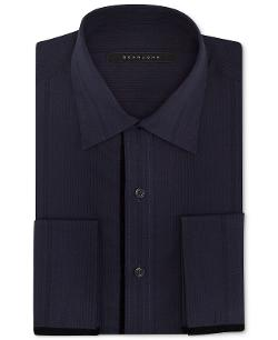 SEAN JOHN - Navy Tonal French Cuff Shirt