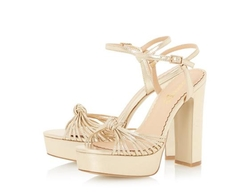 Head Over Heels - Merinda Platform Knot Detail High Heel Sandals