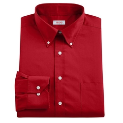 IZOD  - Poplin Button-Down Collar Dress Shirt