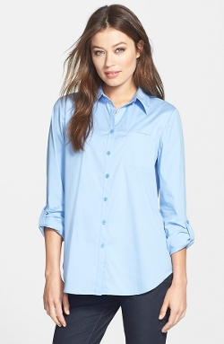 Lafayette 148 New York  - Roll Tab Sleeve Blouse