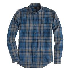 JCrew - SECRET WASH SHIRT IN HEATHER BLUE PLAID