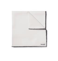 Tom Ford  - Contrast-Trimmed Silk Pocket Square