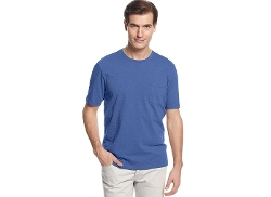 Tasso Elba - Island Short Sleeve Slub Crew Neck Pocket T-Shirt