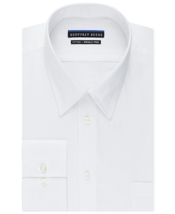 Geoffrey Beene  - Non-Iron Fitted Textured Sateen Solid Dress Shirt
