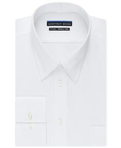 Geoffrey Beene  - Non-Iron Fitted Textured Sateen Solid Dress Shirt