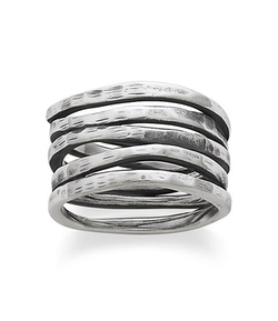James Avery - Stacked Hammered Ring
