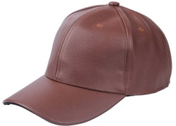 Bigood - Leather Adjustable Baseball Sport Cap