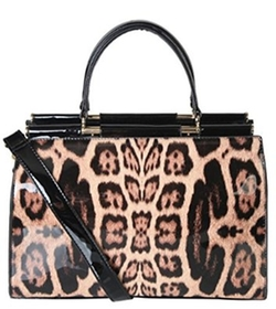 Rimen & Co - Leather Leopard Handbag
