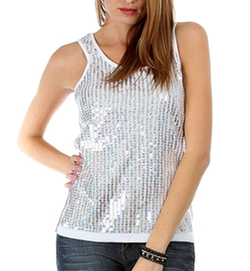 Fashion Club USa - Sequin Thermal Tank Top