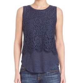 Generation Love - Nori Lace Overlay Tank