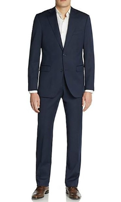 Saks Fifth Avenue Black  - Slim-Fit Tonal Pinstriped Wool Suit