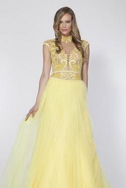 Tarik Ediz - Cap-Sleeved Evening Gown
