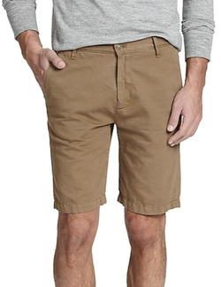 7 For All Mankind - Cotton-Linen Chino Shorts