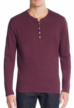 Saks Fifth Avenue  - Cotton Henley Tee