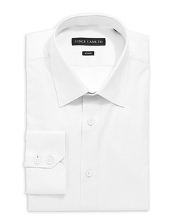 Vince Camuto - Fitted Solid Dress Shirt