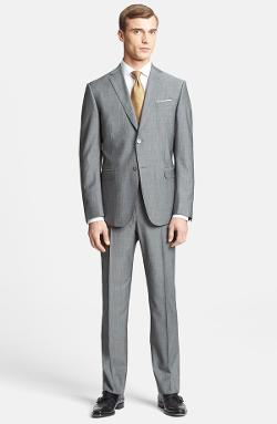 Z Zegna  - Trim Fit Grey Wool Suit