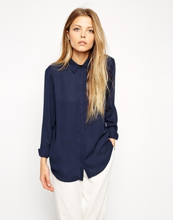 Asos - Classic Point Collar Blouse