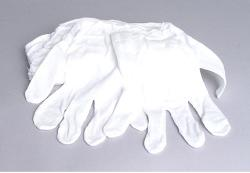 Dot Line - White Cotton Gloves