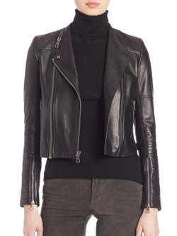 Alice and Olivia  - Gamma Leather Moto Jacket