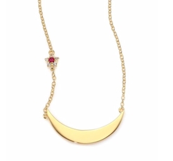 Elizabeth and James - Lunette Luna Ruby & White Topaz Pendant Necklace