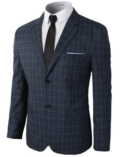 H2H  - Casual Single Breasted Slim Fit Jacket