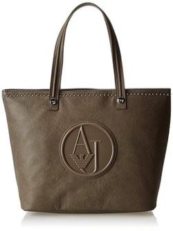 Armani Jeans - Matte Tote with Studs Shoulder Bag