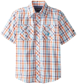 U.S. Polo Assn. - Plaid Two-Pocket Sport Shirt