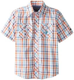U.S. Polo Assn. - Plaid Two-Pocket Sport Shirt