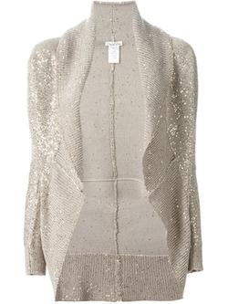 Oscar De La Renta - Sequin Embellished Shawl Cardigan
