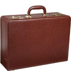 Ameri Leather - Large Expandable Faux Leather Attaché Case
