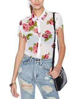 HDY - Preppy Style Chiffon Blouse Shirts