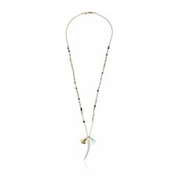 Chan Luu  - Beaded Horn Pendant Necklace